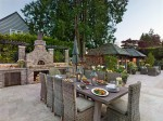 Outdoor dining terrace and outdoor kitchen