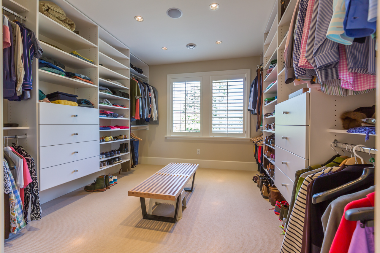 Master bedroom's walk-in closet