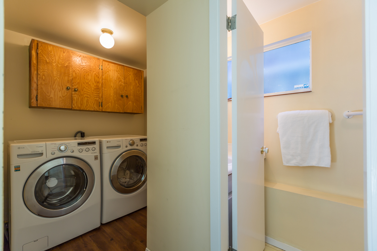Laundry Room and 3 piece Bathroom in Lower Floor