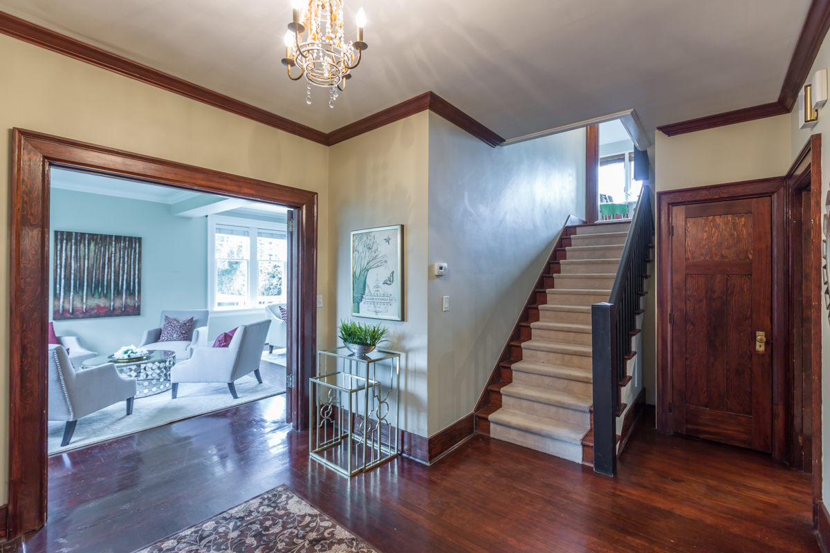 Staircase to upper level - Shaughnessy - 1475 WEST 33RD AVENUE VANCOUVER