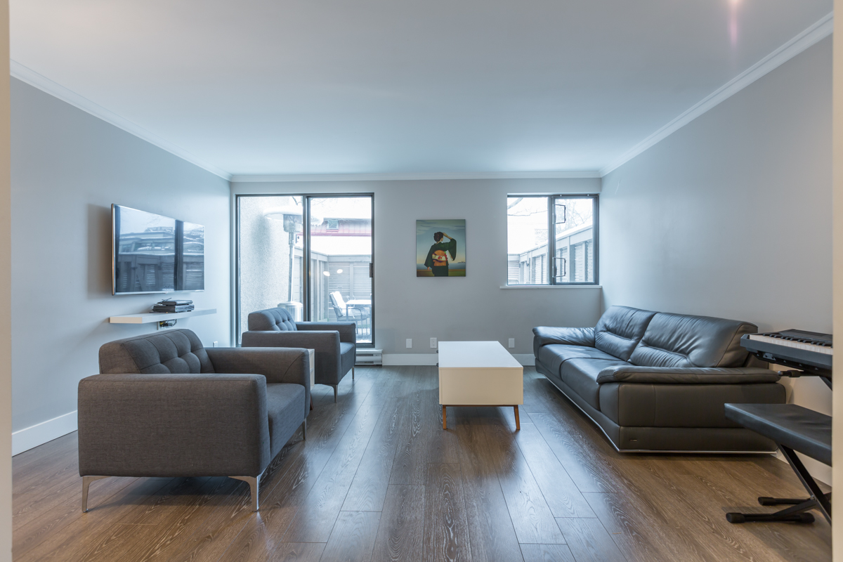 Living Room - False Creek - 732 Millyard, Vancouver, BC