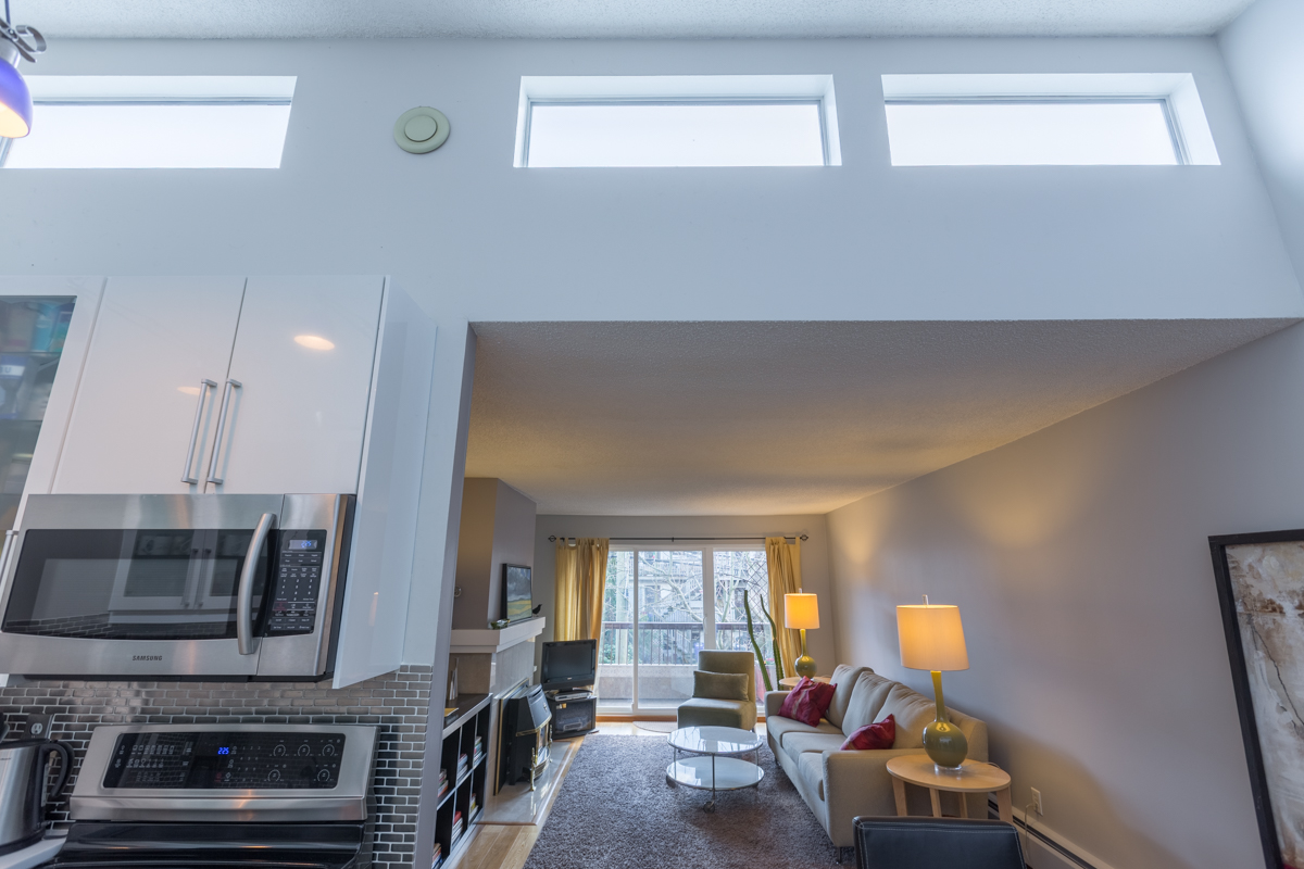 High Ceilings & Skylight