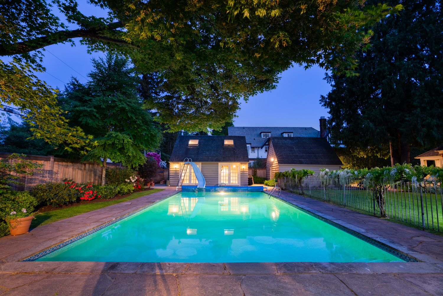 Outdoor Pool and Pool House - Shaughnessy - 5476 Angus Dr, Vancouver, BC V6M 3N4, Canada
