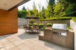 Patio with Built-in BBQ - Shaughnessy - 1098 Wolfe Avenue, Vancouver, BC