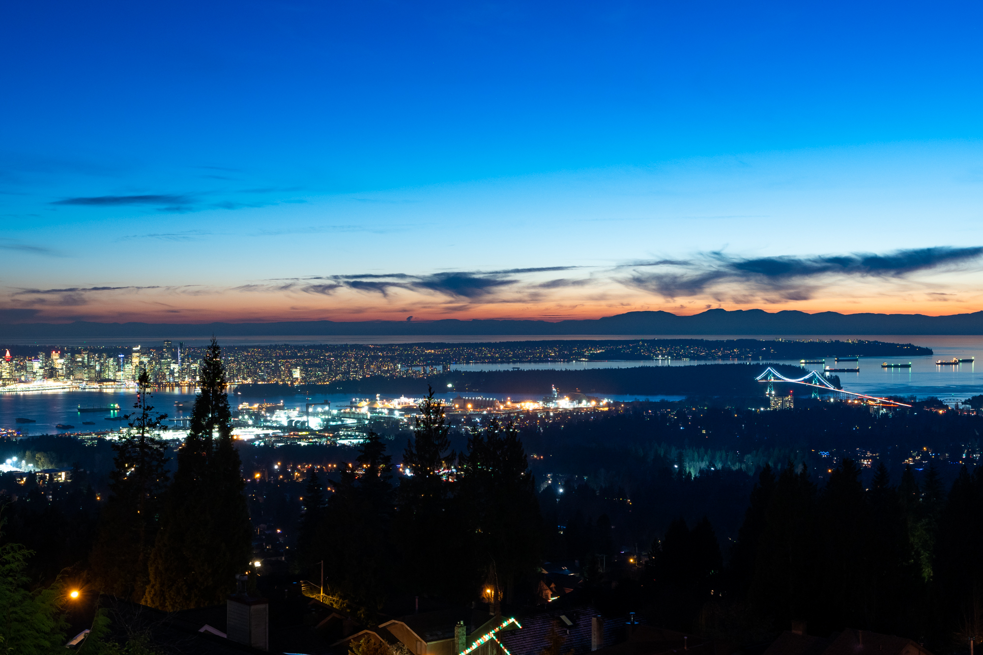 Nighttime View - Upper Lonsdale - 4245 St. Georges Avenue, North Vancouver