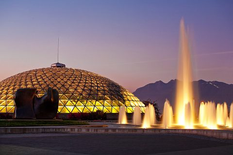Bloedel Conservatory and fountains at Queen Elizabeth Park - Cambie Neighbourhood