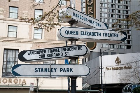 Signage - Vancouver Downtown West neighbourhood