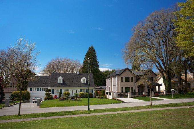 Homes near Angus Road & 66th Avenue - S.W. Marine neighbourhood