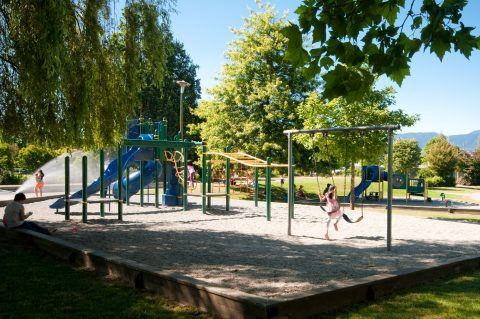 Playground in Vancouver Fraser neighbourhood