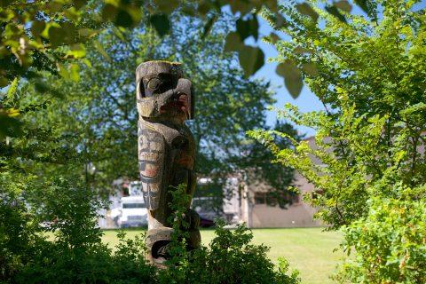 Totem in Woodland Park - Vancouver Hastings neighbourhood