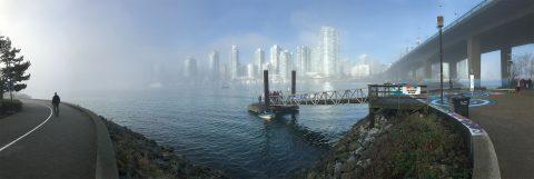 Foggy day at Spyglass Dock - False Creek Neighbourhood