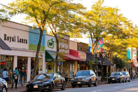 Shops along West 41st Avenue - Kerrisdale neighbourhood