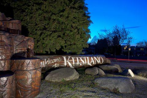 Welcome sign - Kitsilano neighbourhood