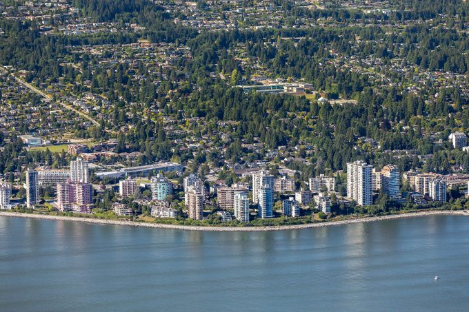 Aerial view of Ambleside, West Vancouver